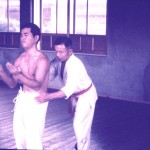 GrandMaster Kanei Uechi checking Sanchin