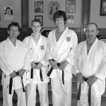 Victor Swinimer, left, was recently named Karate Nova Scotia's dojo sensei of the year. His son, Aiden, second from left, was selected junior male kata athlete of the year and was a member of the provincial team which competed at the 2012 national champ